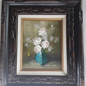 Painted flower picture